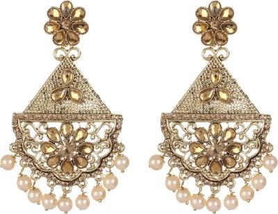 Saadgi Rajwada Royal Class Beads Alloy Drop Earring, Dangle Earring, Chandelier Earring