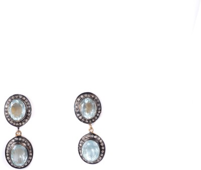 My DT Lifestyle Victorian Style EARING Aquamarine Yellow Gold Drop Earring