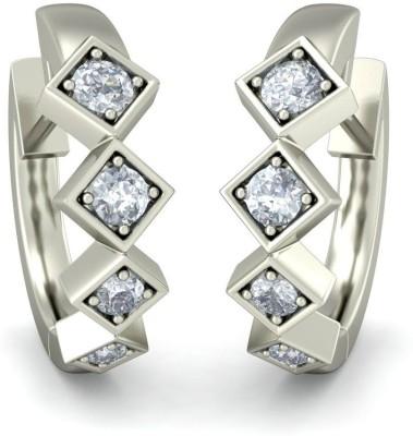 BlueStone The Miles to Gos White Gold 14kt Diamond Hoop Earring