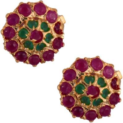 Mahaveer Pearls High Toned Brass Stud Earring