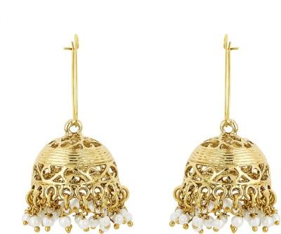 BeBold Jhumki Pearl Antique Brass Jhumki Earring