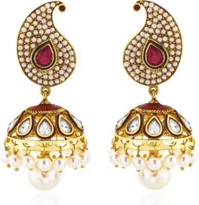 Peora Paisley Pearl Alloy Jhumki Earring