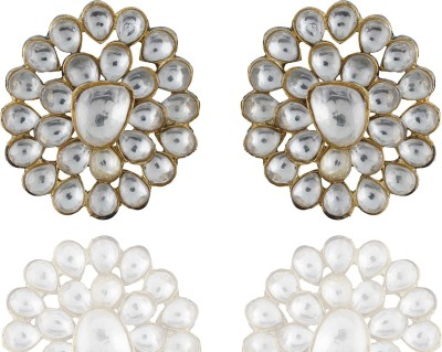 Chaahat Fashion Jewellery Gold Plated Flower Shaped Copper Stud Earring
