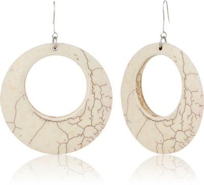 Eve's Wardrobe White Howlite Metal Drop Earring