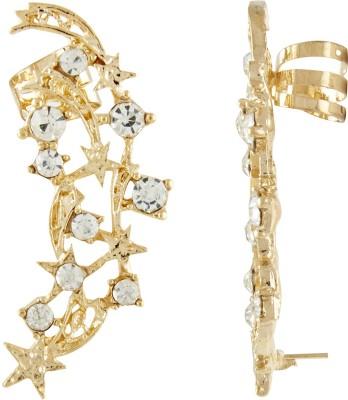 Shining Jewel Glittering Creeper Crystal Alloy Cuff Earring