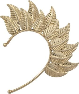 Pankh Golden Leaf Brass Cuff Earring
