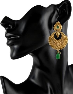 Royal Bling Bottle Green Dainty Metal Drop Earring