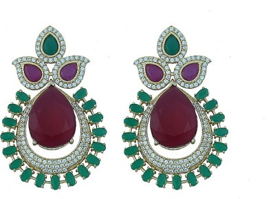 MadeinMyIndia Dazzling Statement Alloy Chandbali Earring