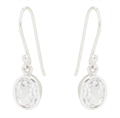 Kashvi White Beauty Crystal Silver Dangle Earring