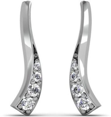 Adara Jewels Stylista Swarovski Crystal Sterling Silver Stud Earring