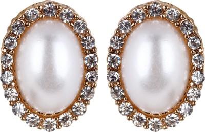 Fayon White Alloy Stud Earring