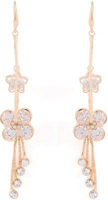 Factorywala GLINTING FLORAL WITH CZ ADORNMENT Alloy Dangle Earring