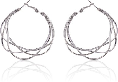 Thingalicious Multi Layered Spiral Alloy Hoop Earring