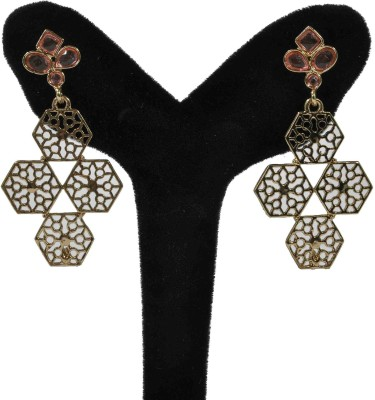 Arohi Jewells & Gems AJG112 Copper Earring Set