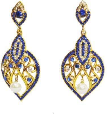 Traditsiya Intricate Designer Alloy Chandelier Earring