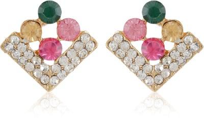 Moedbuille Stone Encrusted Crystal Alloy Stud Earring