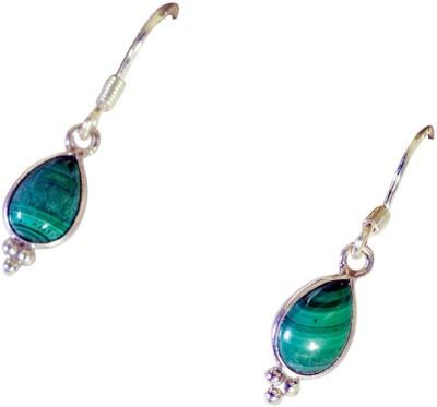 Riyo Handsomestar Malachite Agate Sterling Silver Dangle Earring