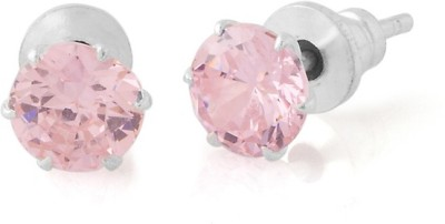 Gemshop DELICATE PAIR OF ADORNED WITH STONE Alloy Stud Earring