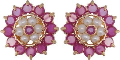 Janki Jewellers Dazzling Beauty Cubic Zirconia Alloy Stud Earring