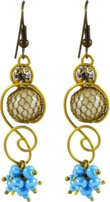 Harini Designer Blue Stone Alloy Dangle Earring