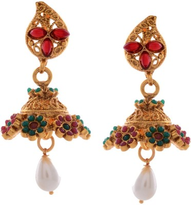 Gehnamart Traditional Multi colour Alloy Jhumki Earring