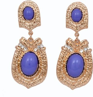 WoW Purple Resin Gold Tone Alloy Drop Earring