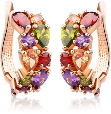 University Trendz Multicolor_Univ_E092 Crystal Alloy Clip-on Earring