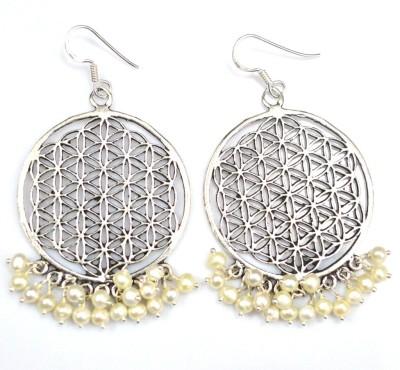 Anavaysilver Ear044 Pearl Sterling Silver Dangle Earring