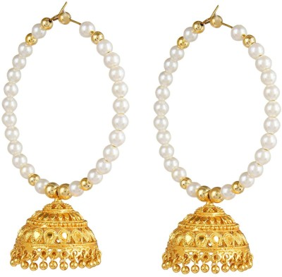 Bling N Beads Traditional Indian Pearl Alloy Jhumki Earring
