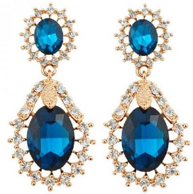 Silver Shoppee Designer Crystal, Cubic Zirconia Alloy Drop Earring