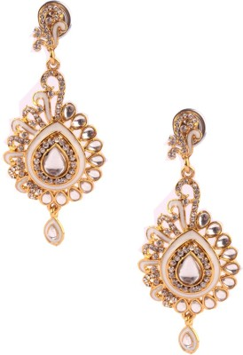 Trinketbag Silver and gold glass Glass, Alloy Drop Earring