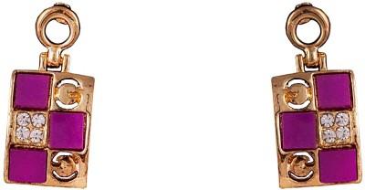 R18Jewels-Fashion&U Sensuous Sparkling Lavender Metal Drop Earring
