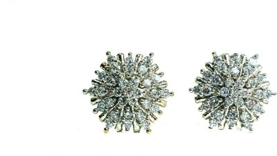 Diamond Diva CZ EARRING PAIR Cubic Zirconia Brass Stud Earring