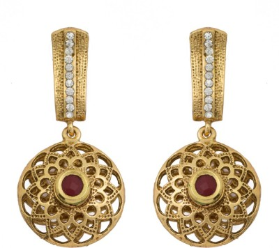 SBS Goematrical Round Diamond Brass Drop Earring