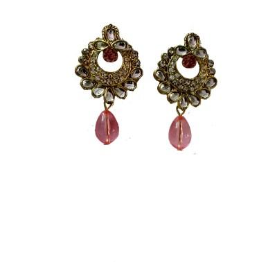 modifier pink alloy Crystal Alloy Drop Earring