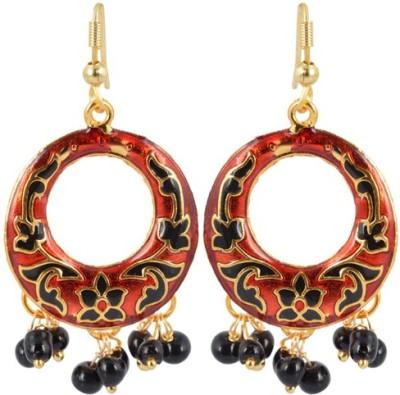 Waama Jewels Golden Brass Dangle & Drop Earring gift for dear best of all Girls Metal Dangle Earring