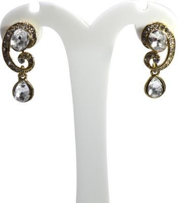 Bluaub Tear drop diamond droplet Earings Alloy Drop Earring