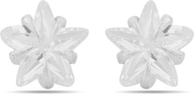 Gemshop Cz Embellished Stylish Sterling Silver Stud Earring