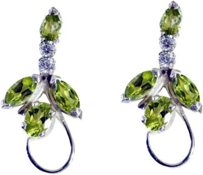 Riyo Shapelystar Peridot Peridot Sterling Silver Dangle Earring