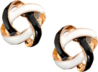 Ak Zopping Collection Alloy Stud Criss-cross Earring Metal Stud Earring