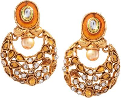 Ark Modern India Crystal Alloy Chandbali Earring