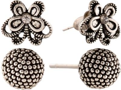 Anokhi Ada Dot Sphere and Butterfly Metal Stud Earring