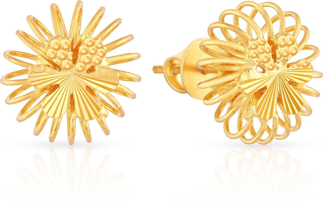 malabar gold and diamonds mhaaaaaavcmi 22 k gold stud earring in