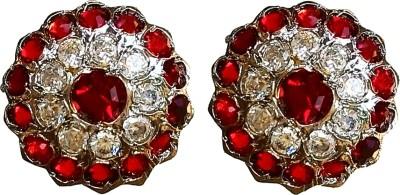poonam creation p5 Zircon Brass Earring Set