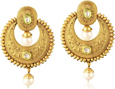 TAKSPIN Ethnic traditional bollywood ( Party Wear Indian jewellery) Alloy Chandbali Earring
