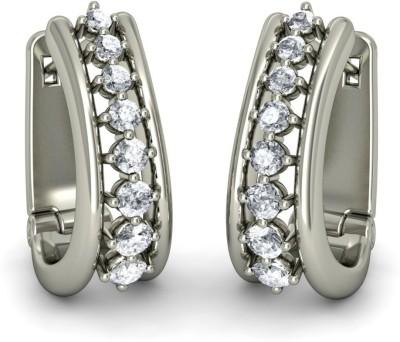 Joyra Beauteous Swarovski Zirconia Sterling Silver Hoop Earring