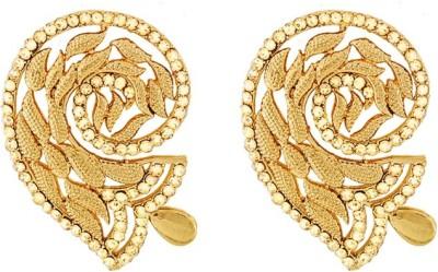 Art Nouveau Wedding Wear Brass Earring Set