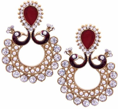 JewelsGuru Diva Style Alloy Chandbali Earring