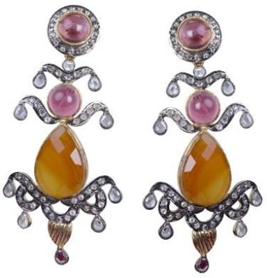 Amalaan Jewels Fancy Stone Brass Drop Earring