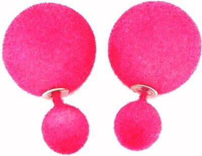 Cilver Fashion Trendy Velvetty double ball Alloy Plug Earring, Stud Earring